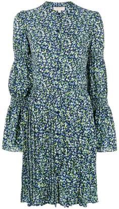 MICHAEL Michael Kors floral print pleated shirt dress