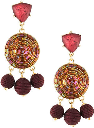 Lydell NYC Wrapped Triple-Drop Earrings