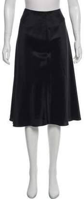 Brooks Brothers Silk Knee- Length Skirt