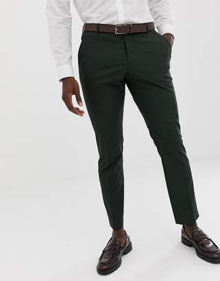 Selected Dark Green Suit PANTS In Slim Fit