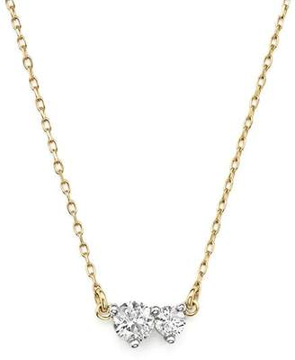 Adina 14K Yellow Gold Amigos Diamond Two Station Choker Necklace, 14""