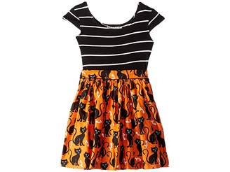fiveloaves twofish Kitties Maddy Dress (Toddler/Little Kids)