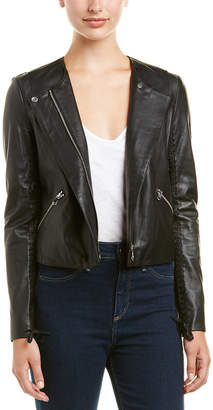 J Brand Silver Strand Leather Jacket