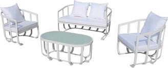 Pangea Naples 4Pc Sofa Set