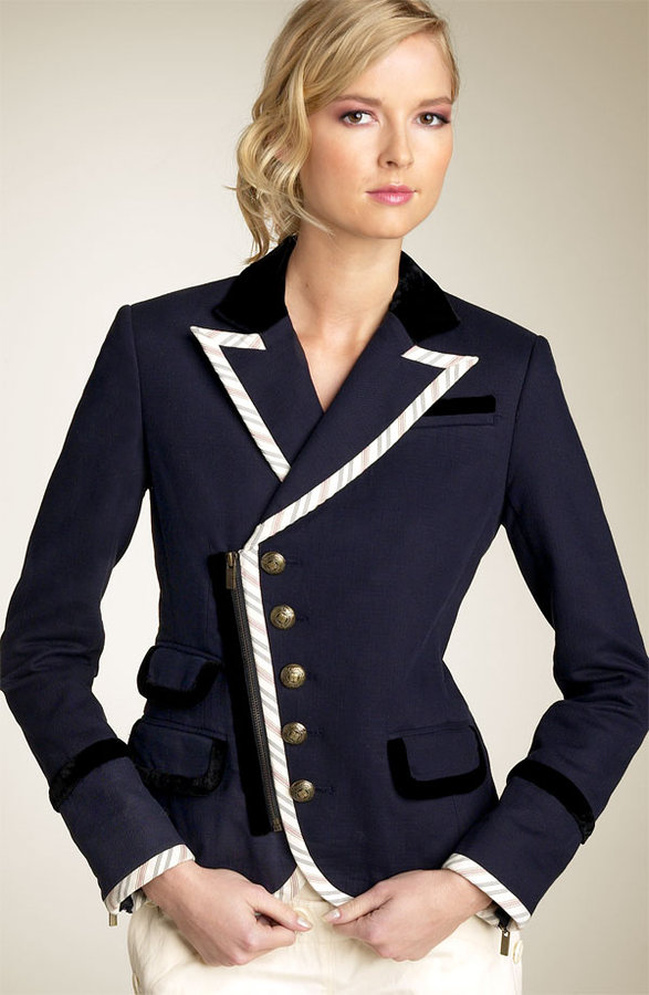 BCBGMAXAZRIA Asymmetrical Twill Jacket