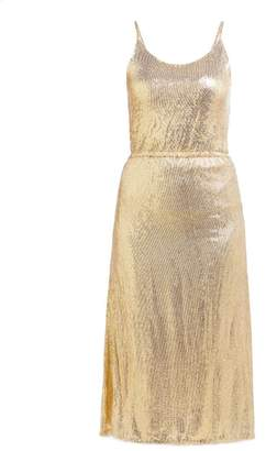 Mes Demoiselles Philo Sequinned Midi Dress - Womens - Gold