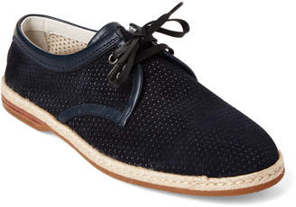 Dolce & Gabbana Navy Perforated Suede Derby Shoes