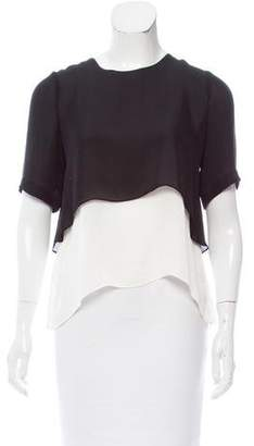 Elizabeth and James Layered Silk Top