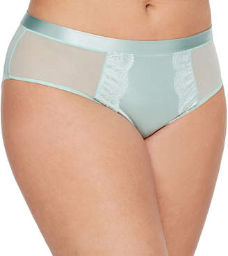 Boutique + Embroidered High Waist Hi Cut Panty- Plus
