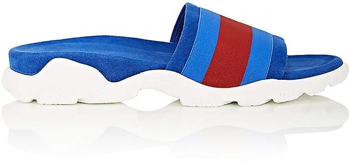 Stella McCartney Women's Striped Faux Suede Slide Sandals