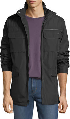 Iconic American Designer Men's Four-Pocket Zip-Front Jacket