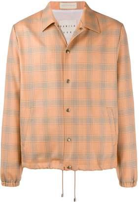 Paura x Kappa plaid shirt jacket