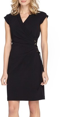 Women's Tahari Side Tie Scuba Sheath Dress $138 thestylecure.com