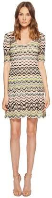 M Missoni Wave Ripple Knit Dress Women's Dress