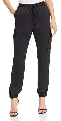 Kenneth Cole Satin Cargo Jogger Pants