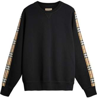 Burberry Vintage Check Detail Cotton Blend Sweatshirt