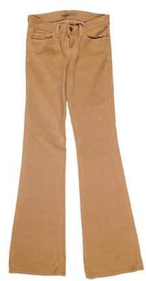 J Brand Low-Rise Corduroy Pants w/ Tags