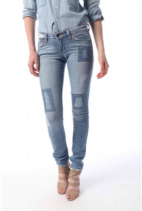 Jet Jeans Patchwork Skinny Jean