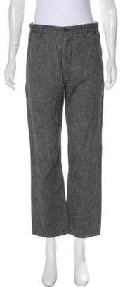 Rag & Bone High-Rise Linen-Blend Jeans