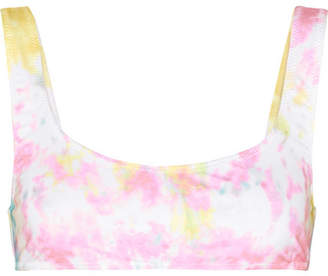 Solid & Striped Re/done The Elle Tie-dyed Bikini Top - Pastel pink