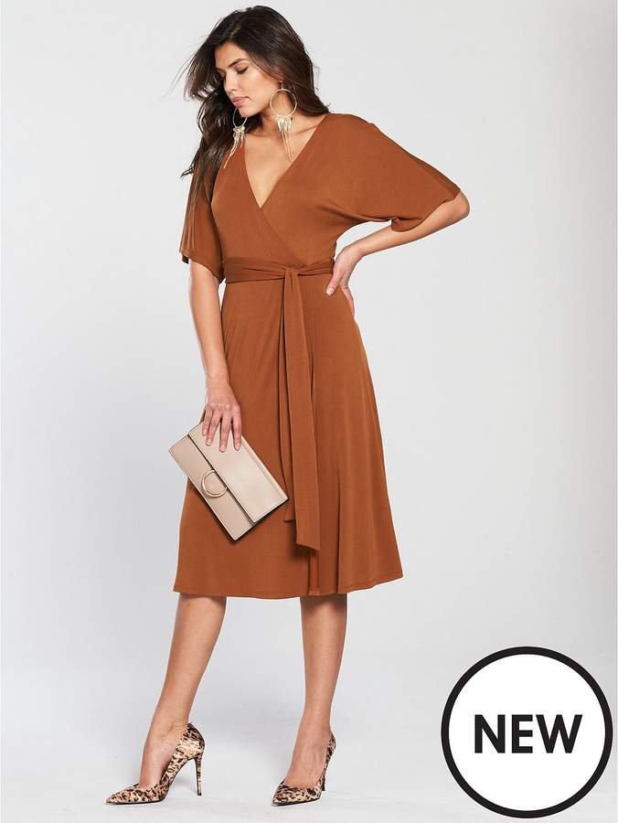 Cupro Jersey Wrap Dress