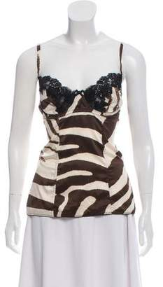 Dolce & Gabbana Animal Print Bustier Top w/ Tags