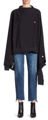 VETEMENTS Vetements x Champion In Progress Oversized Sweatshirt $880 thestylecure.com