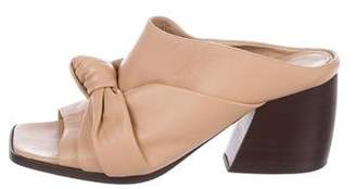 Helmut Lang Leather Slide Sandals