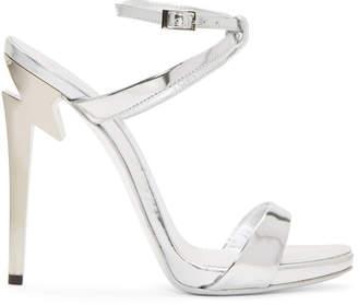 Giuseppe Zanotti Silver Metallic Alien Sandals