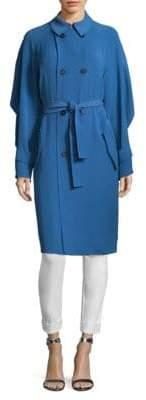St. John Draped Twill Trench Coat