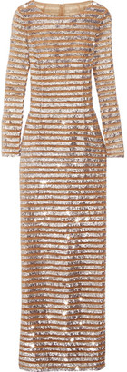 Michael Kors Collection - Sequin-embellished Tulle Gown - Silver $8,995 thestylecure.com