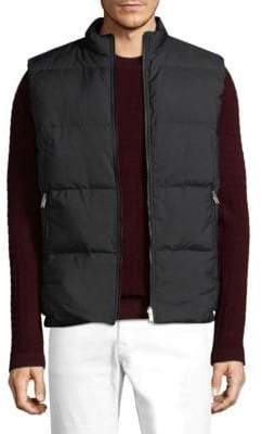 Theory Quilted Zip-Up Vest