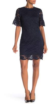ABS by Allen Schwartz Collection Short Sleeve Lace Knit Dress