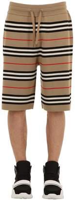 Burberry Jacquard Merino Wool Knit Shorts