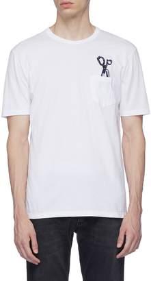 Denham Jeans Logo embroidered chest pocket T-shirt