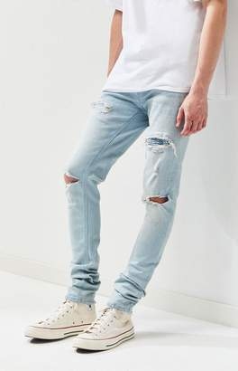 Pacsun PacSun Ripped Light Stacked Skinny Jeans