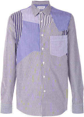 Alexander McQueen stripe patch shirt