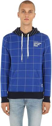 G Star Uotf Core Hooded Check Sweatshirt