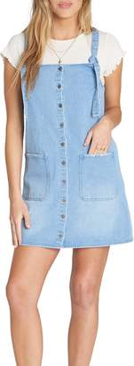 Billabong The Ringer Denim Pinafore Dress