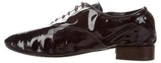 Repetto Patent Leather Round-Toe Loafers