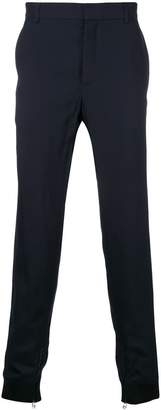 Lanvin contrast cuff tailored trousers