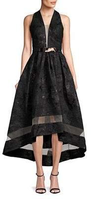 Nicole Bakti Sleeveless Jacquard Fit-&-Flare Dress