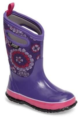 Bogs Classic Pansies Insulated Waterproof Rain Boot