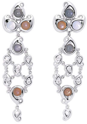 Tamara Comolli Paisley Chandelier Cabochon Earrings in 18K White Gold