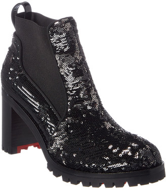 Christian Louboutin Marchacroche 70 Sequin Ankle Boot