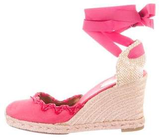 Christian Louboutin Embroidered Wedge Espadrilles 91d644ebe82