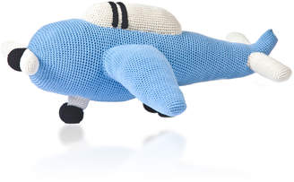 Anne Claire Blue Airplane Crochet Toy