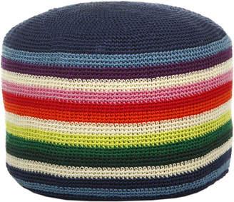 Anne Claire Multi Crochet Pouf