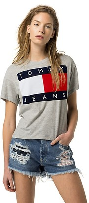 Tommy Jeans Flag Tee $49.50 thestylecure.com