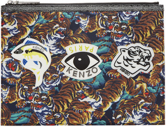 Kenzo Multicolor Multi Icons Pouch $165 thestylecure.com